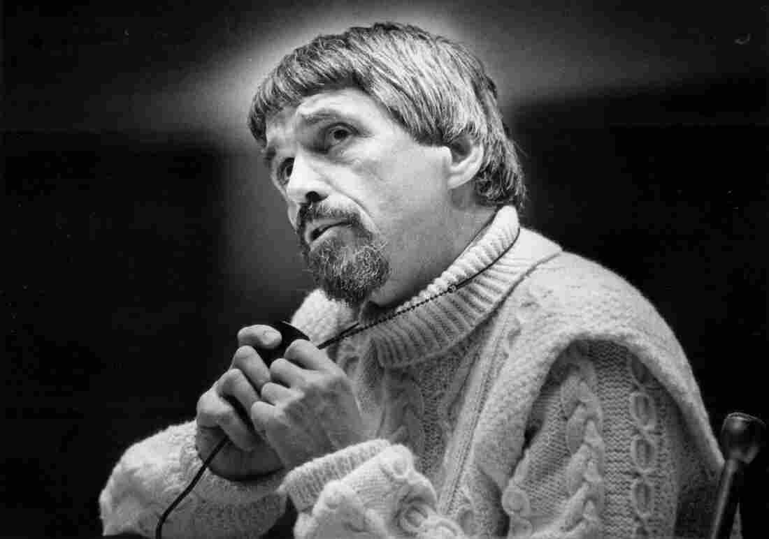 Daniel Berrigan speaks in Colorado in 1974.