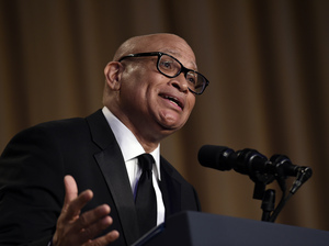 Comedy Central's Larry Wilmore speaks at the annual White House Correspondents' Association dinner.