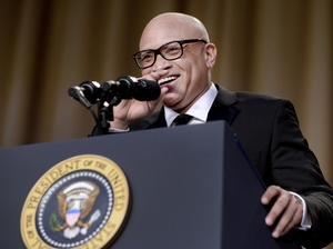 Comedian Larry Wilmore performed at the White House Correspondents' Association dinner on Saturday night.