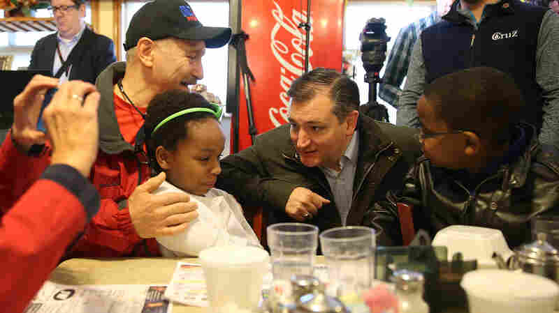 Republican Ted Cruz makes a campaign stop at the Bravo Cafe Monday in Osceola, Indiana. Indiana might be Cruz's last chance to stop Donald Trump from getting the nomination.