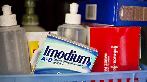 Imodium is a popular brand of the drug loparamide. Because loparamide is increasingly being abused by opioid users, some toxicologists think it should have the same sales restrictions as pseudophedrine. (Bloomberg via Getty Images)