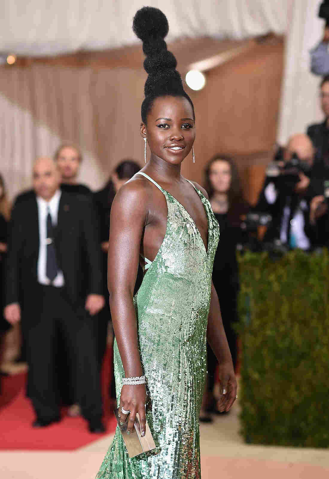 """Lupita Nyong'o's hair at the Met Gala made headlines. The theme of the ball was """"Manus x Machina: Fashion In An Age Of Technology."""""""