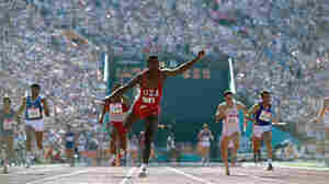 Neil Leifer took this photograph of sprinter Carl Lewis during the 1984 Olympics. Lewis won four gold medals that year. Photo from Relentless: The Stories behind the Photographs, by Neil Leifer with Diane K. Shah (University of Texas Press, 2016)