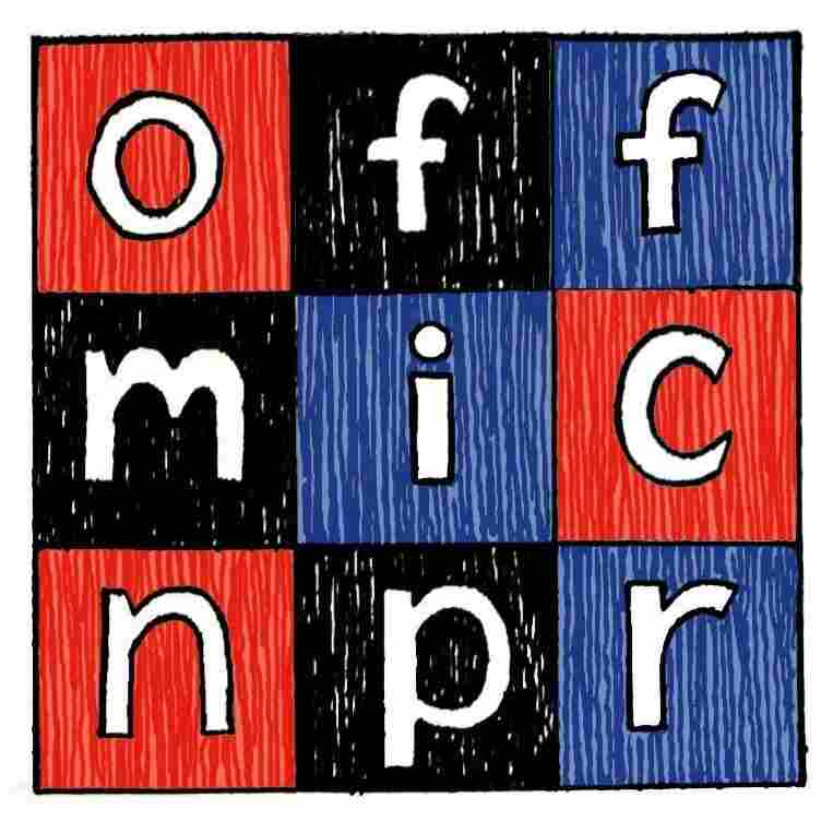 The NPR Interns Present Off-Mic. Logo designed by Katherine Du.