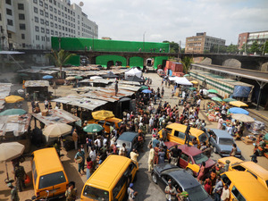 Some Nigerians were hoping that this scene from Captain America was filmed in Lagos — but actually it was a set in Atlanta.