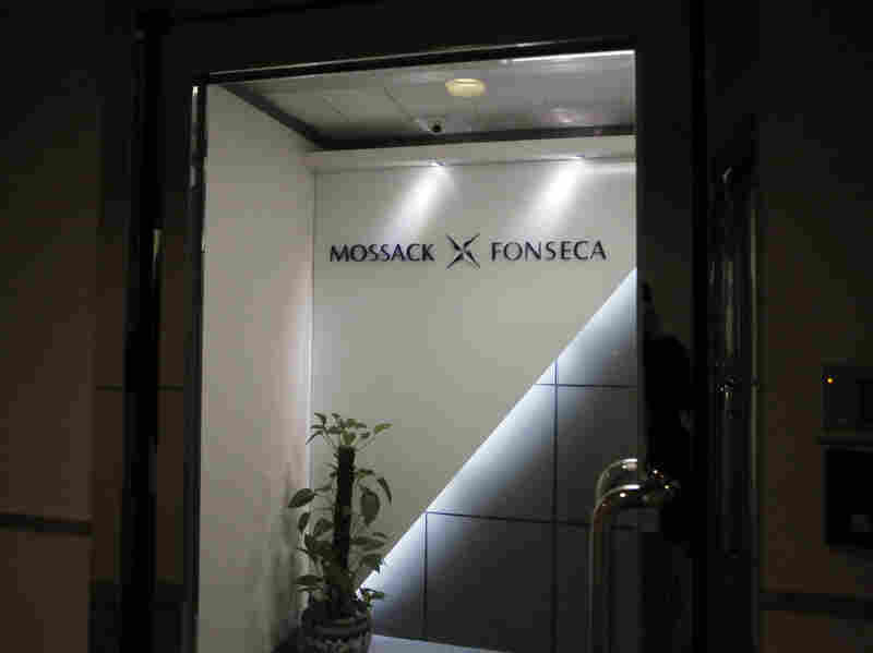 The entrance to the Hong Kong office of Panama-based law firm Mossack Fonseca, which is involved in the creation of offshore shelters used to hide income.