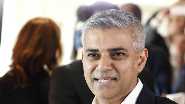 Sadiq Khan, whose Pakistani father was a bus driver in London for more than 25 years, has been elected mayor. He is the city's first Muslim mayor. (AP)