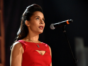 "North Carolinian Rhiannon Giddens, who opposes HB2, says she struggled with whether to speak out against the bill from stage: ""How can I use my platform for good without jeopardizing everything so that I don't have that platform anymore?"""
