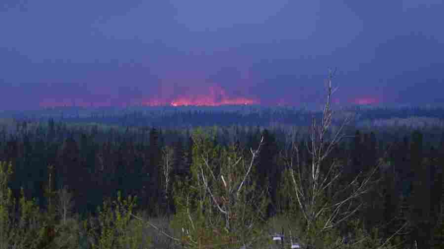 The size of the fires around Fort McMurray, Alberta, is now more than 210,000 acres.