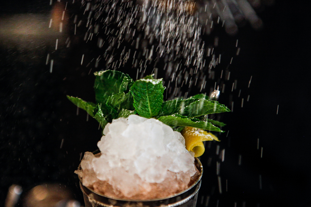 This drink is a twist on the traditional mint julep. Think bubbly champagne in lieu of whiskey. Recipes below.