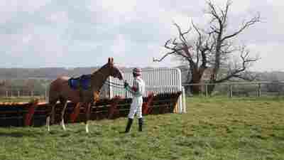Jockey Will Biddick in Dark Horse.