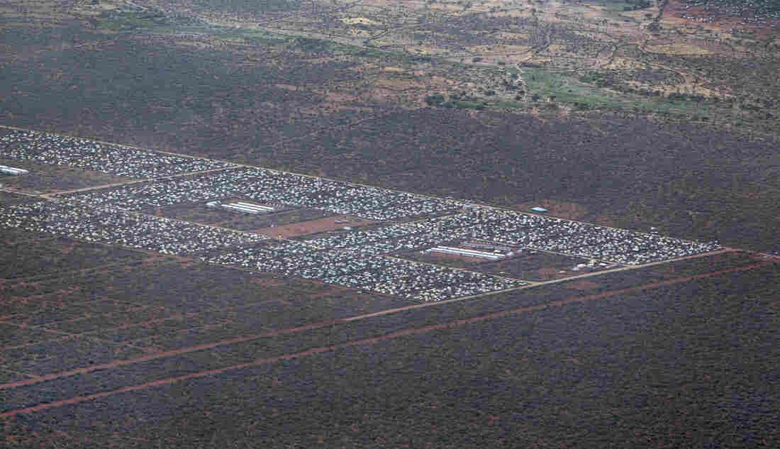 Parts of Dadaab, the world's largest refugee camp, are seen from a helicopter in northern Kenya in 2012.