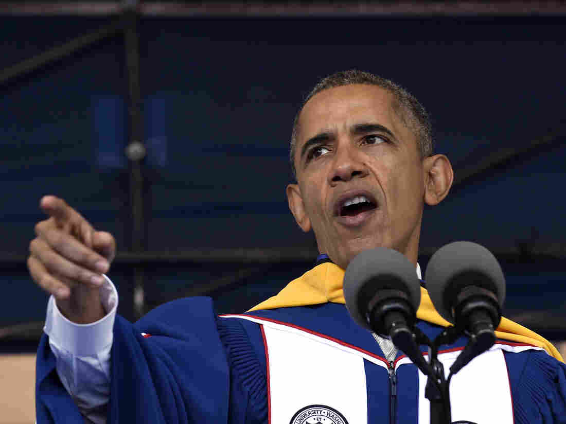 President Barack Obama gives his commencement address to the 2016 graduating class of Howard University.
