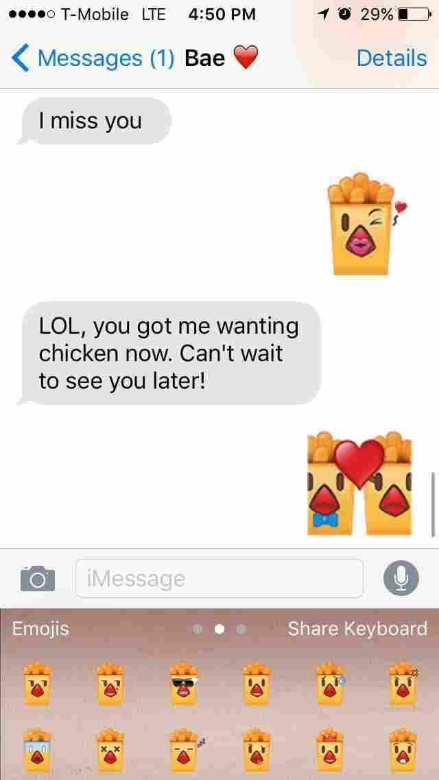 Burger King's Chicken Fries emoji would very much like to be part of your text conversation.