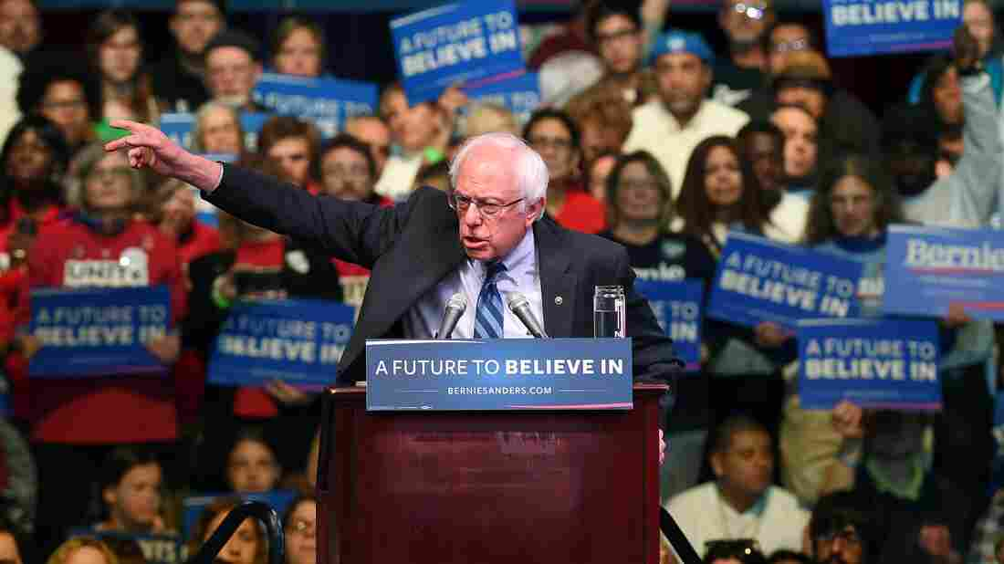 US Democratic presidential candidate Bernie Sanders speaks during a rally in Atlantic City, New Jersey, on May 9, 2016.