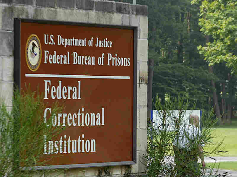 The sign out front of the Federal Correctional Institution in Fairton, N.J., where David Padilla was serving 19 years for nonviolent drug offenses before receiving clemency.