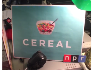 "A screenshot of the Two-Way blog's midday update live series, ""Cereal,"" a play on This American Life's hit spin-off show."