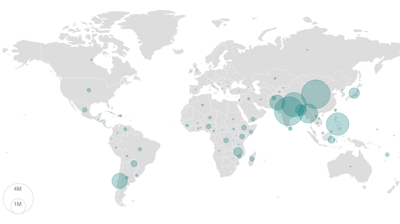 Map: 19.2 Million People Were Newly Displaced By Disasters In 2015