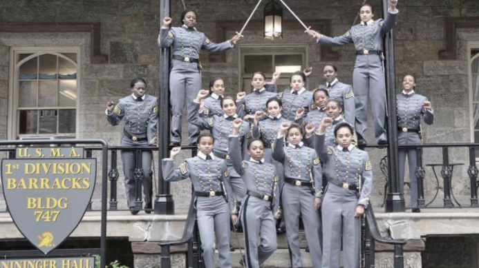 The cadets posed in their uniforms before graduation from West Point on May 21.