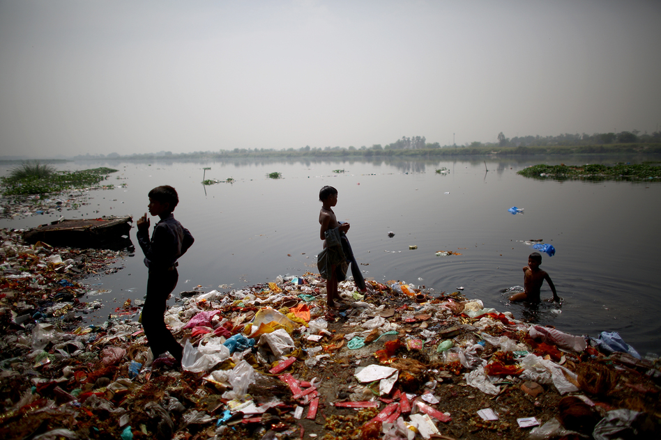 essay on pollution in india A large quantity of water, used for domestic and industrial applications, requires certain specifications the process industry, ie, the chemical and allied industry, requires a large amount of water for their condensers and coolers.