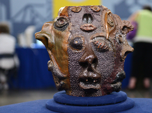 """The potter has used an impressive array of techniques to come up with this extraordinary texture,"" an Antiques Roadshow appraiser said of this piece — which turned out to be a high school art project."