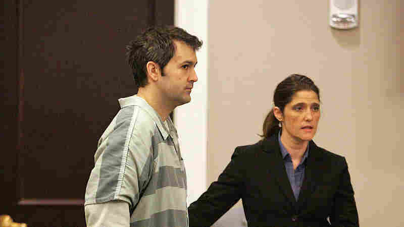 Michael Slager (left) appeared with defense attorney Cameron Blazer during a Circuit Court hearing last September at the Charleston County Courthouse in Charleston, S.C.