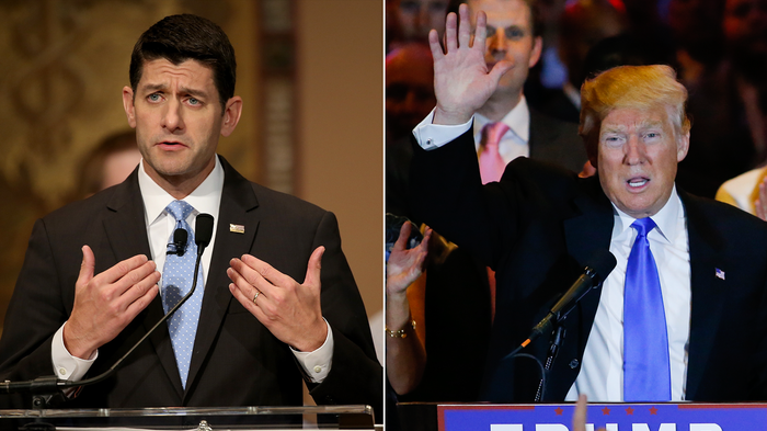 House Speaker Paul Ryan (left) and GOP Candidate Donald Trump will meet Thursday in Washington, D.C.
