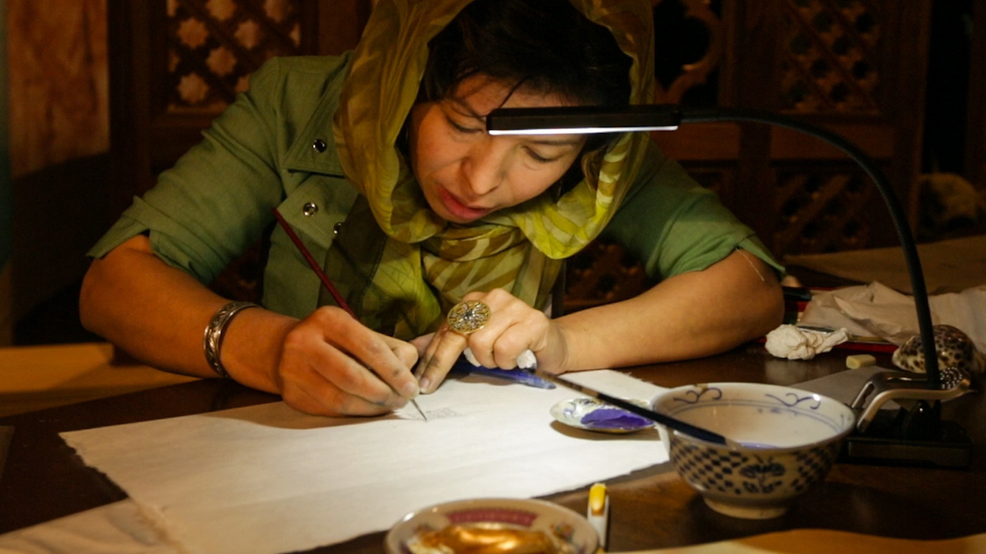 VIDEO: Watch An Afghan Calligrapher's Gifted Hands Create A Miniature Work Of Art