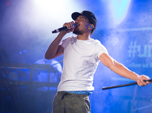 Chance The Rapper performs in October 2015, in New York City.