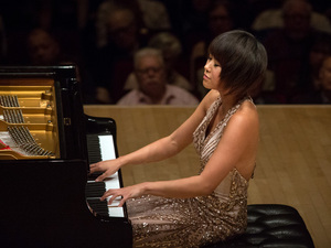 Yuja Wang played a demanding program at Carnegie Hall, topped by four encores.