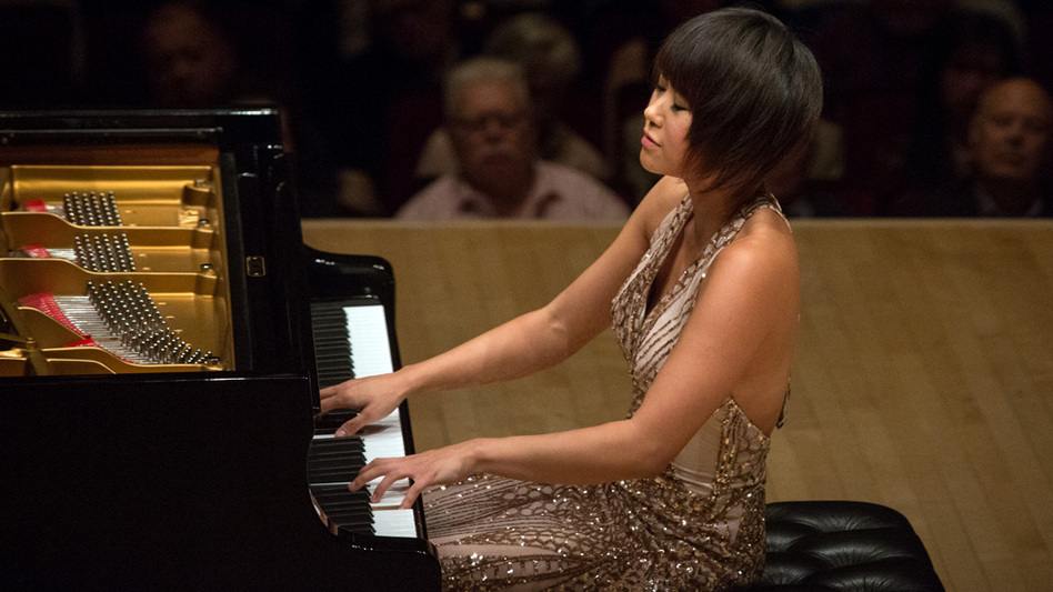 Yuja Wang played a demanding program at Carnegie Hall, topped by four encores. (for NPR)