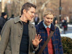 Ethan Hawke and Greta Gerwig in Maggie's Plan.