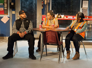 "Dez, Faye and Shanita (played by Jason Dirden, Lynda Gravatt and Nikiya Mathis) are the ""skeleton crew"" left behind in a Detroit auto plant after layoffs in 2008."