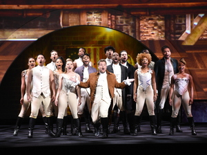 The Late Late Show host James Corden performs in a Hamilton parody, as CBS and other networks present their fall lineups at this year's upfronts.