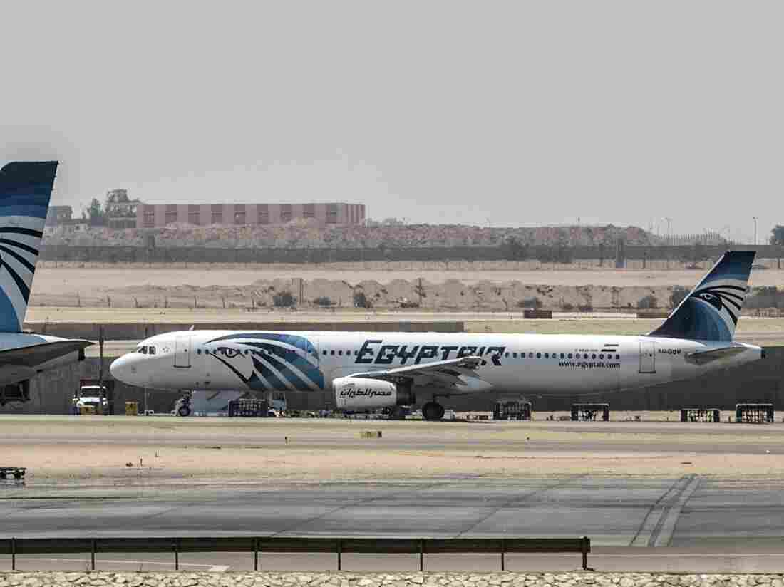 Planes on the tarmac at Cairo airport on Thursday after an EgyptAir flight from Paris to Cairo disappeared over the Mediterranean with 66 people on board.