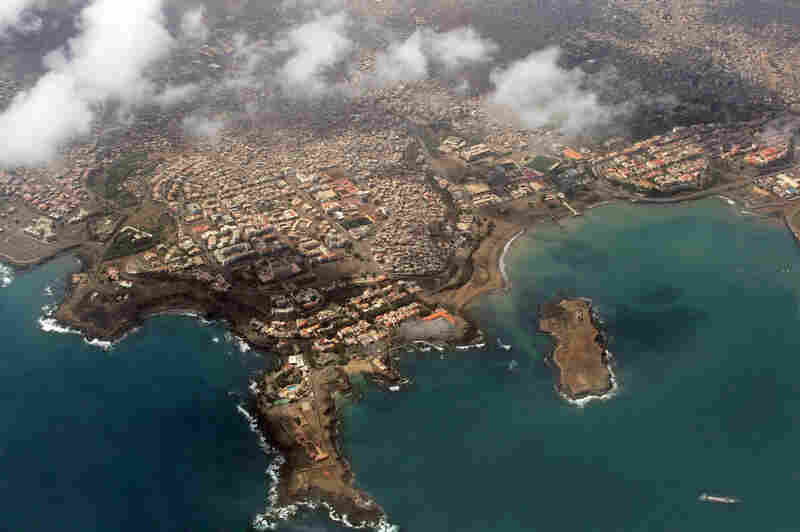 Aerial view of Praia, the capital city of Cape Verde
