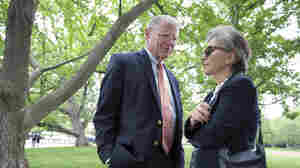 Environment and Public Works Committee Chairman Sen. James Inhofe, R-Okla., speaks with Sen. Barbara Boxer, D-Calif., on Thursday before joining a bipartisan group of senators at a Capitol Hill news conference to discuss legislation to improve the federal regulation of chemicals and toxic substances.