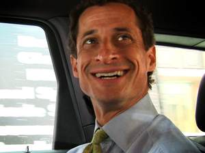 "This image released by IFC Films shows Anthony Weiner in a scene from the documentary, ""Weiner."""