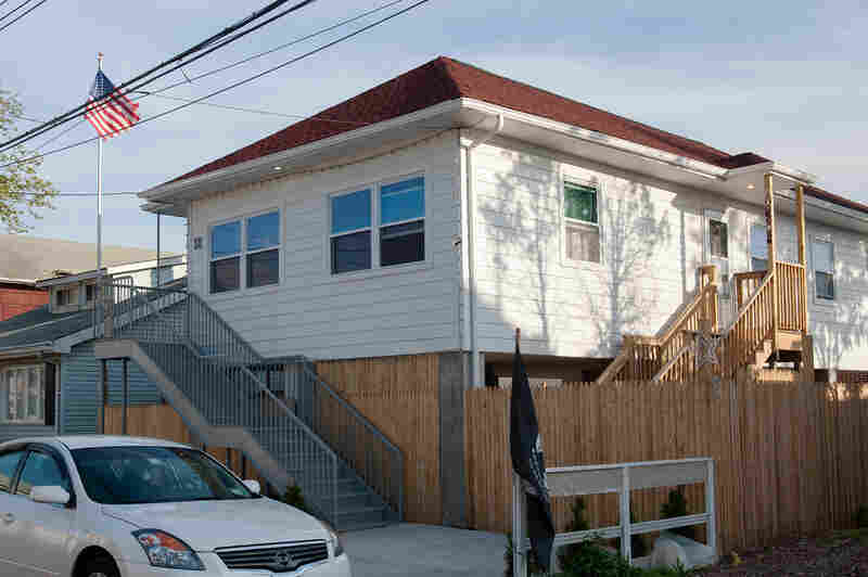 Following Superstorm Sandy, Nicole Chati received $600,000 to repair her home. Now, it sits on stilts that rise above the other homes in the neighborhood that have yet to be raised.