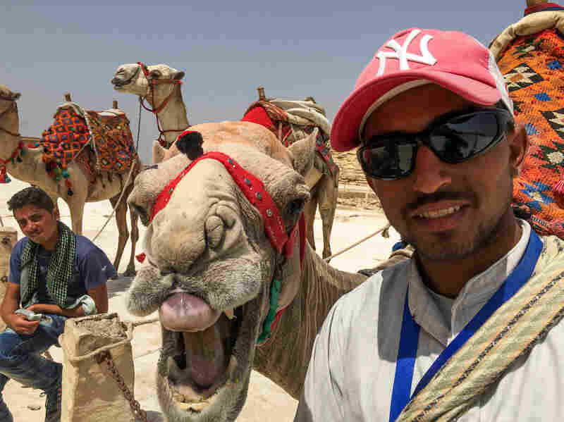 At the pyramids of Giza, Mahmoud Tayar and his camel, Charlie Brown, are gloomy about the steep drop in tourism to Egypt over the past five years.