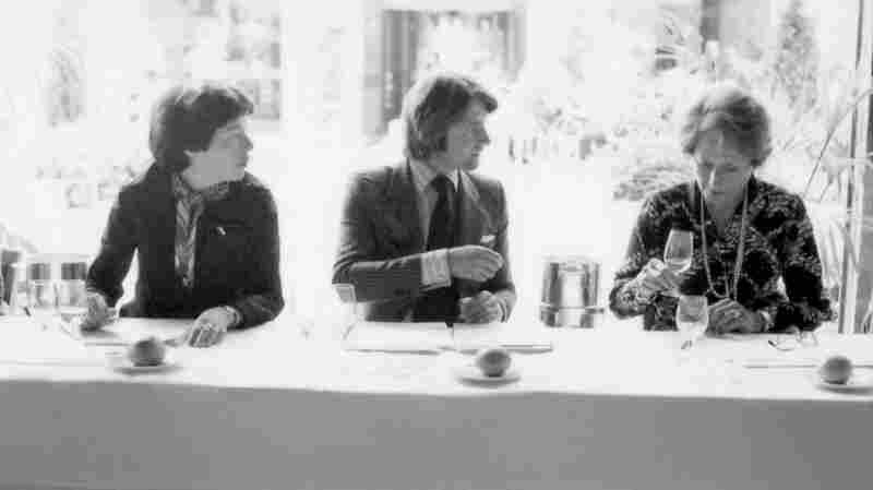 """From left: Patricia Gallagher, who first proposed the tasting, wine merchant Steven Spurrier, and influential French wine editor Odette Kahn. After the results were announced, Kahn is said to have demanded her scorecard back. """"She wanted to make sure that the world didn't know what her scores were,"""" says George Taber, the only journalist present that day."""