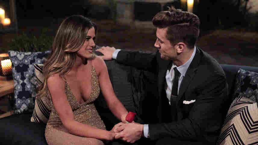 JoJo Fletcher and Jordan the football player/brother in the kickoff episode of the new season of The Bachelorette.