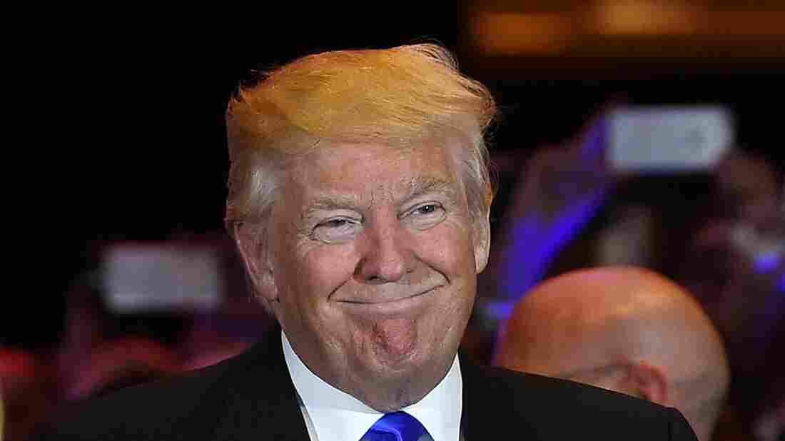 Republican presidential candidate Donald Trump smiles following his victory in the May 3rd Indiana primary which cemented his status as the GOP's de facto nominee.