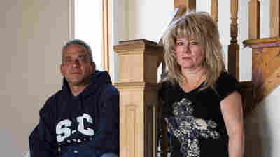 Nick and Diane Camerada stand inside their home on Staten Island, N.Y. During Superstorm Sandy, the Cameradas had water up to the second floor of their home. More than three years later, they are still living in a home that is only partially renovated while continuing to deal with bureaucratic nightmares.