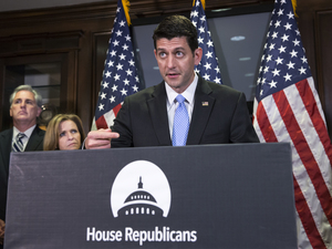 "House Speaker Paul Ryan is spearheading the agenda project, which he calls ""Confident America."""