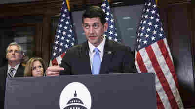House Speaker Paul Ryan meets with reporters on Capitol Hill on Tuesday.