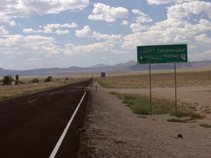 Extraterrestrial Highway, or SR 375 in Nevada, just east of Area 51.