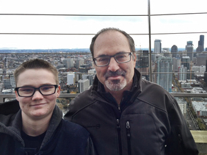Jake Ralston with his father Jon Ralston. This week, Jake successfully petitioned to change the name and gender on his birth certificate to reflect that he is male.