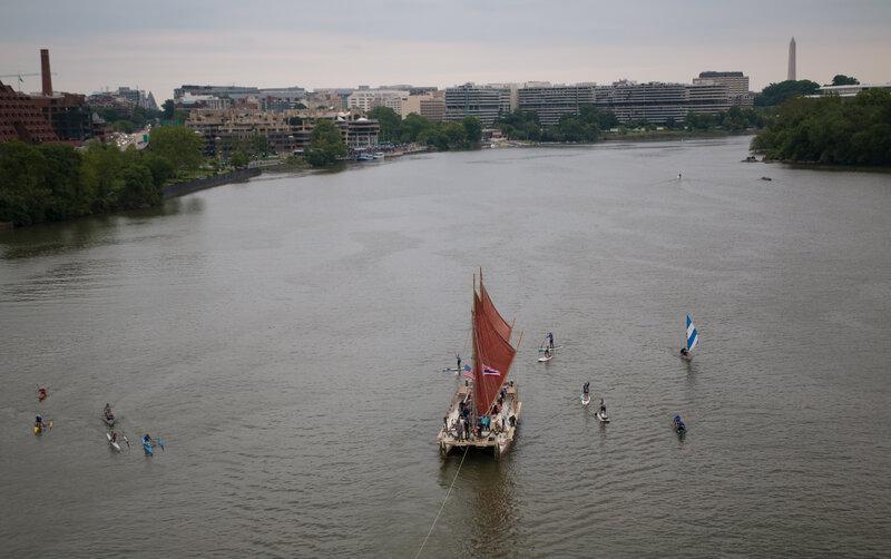 Hawaii Canoe Hokule'a Worldwide Voyage : Code Switch : NPR