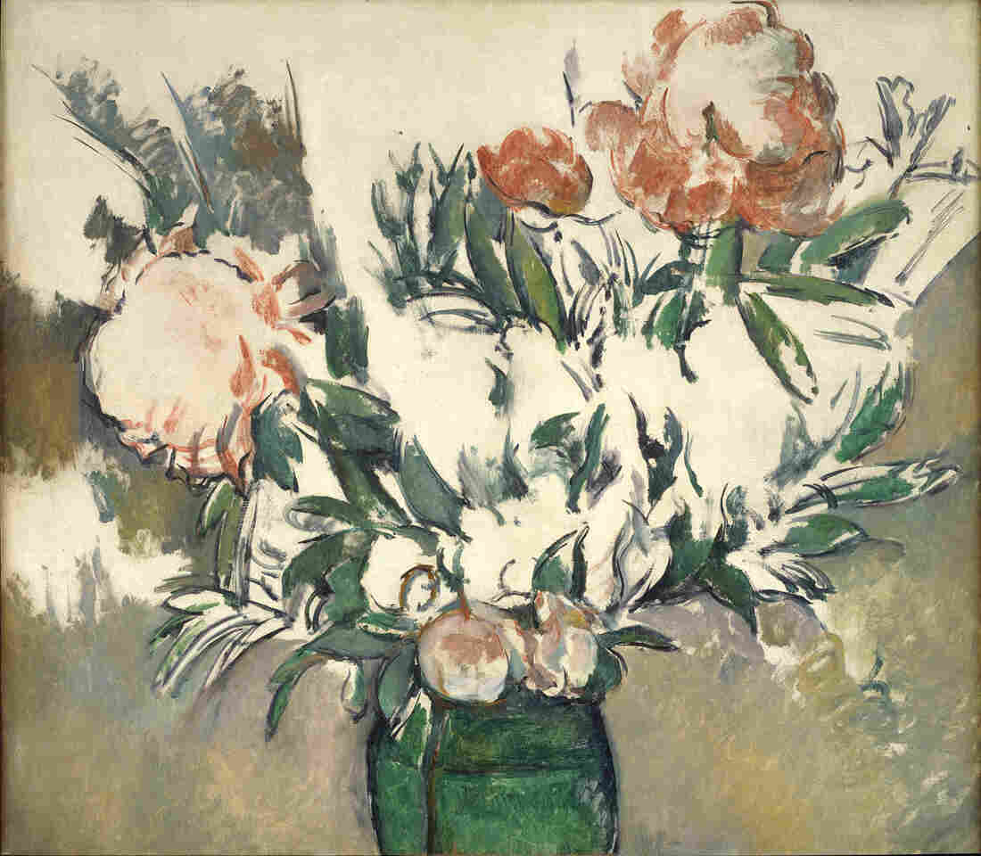 Paul Cézanne, who painted Bouquet of Peonies in a Green Jar around 1898, rarely signed his works. He told his mother that finishing things was a goal for imbeciles.